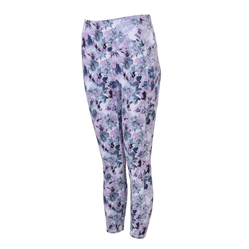 Women's Peached Floral Print 7/8 Leggings, Floral, swatch