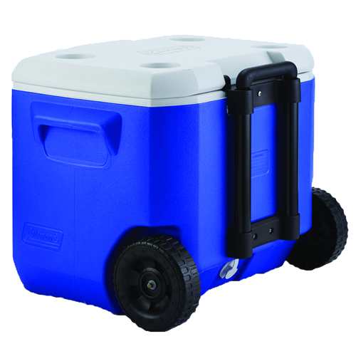60QT Wheeled Cooler, Blue/White, swatch