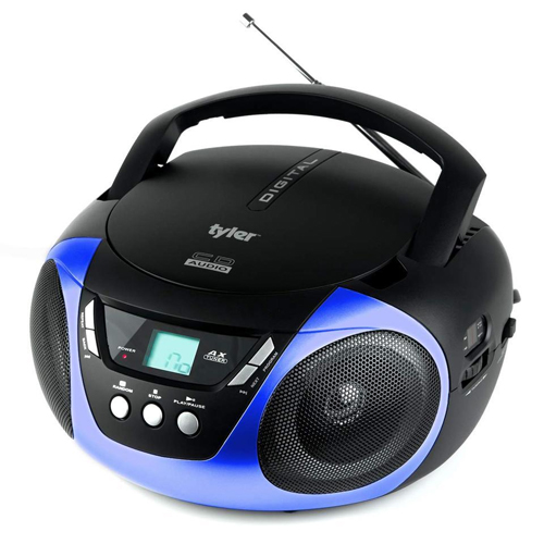 Portable Sport Stereo CD Player with AM/FM Radio, Blue, swatch