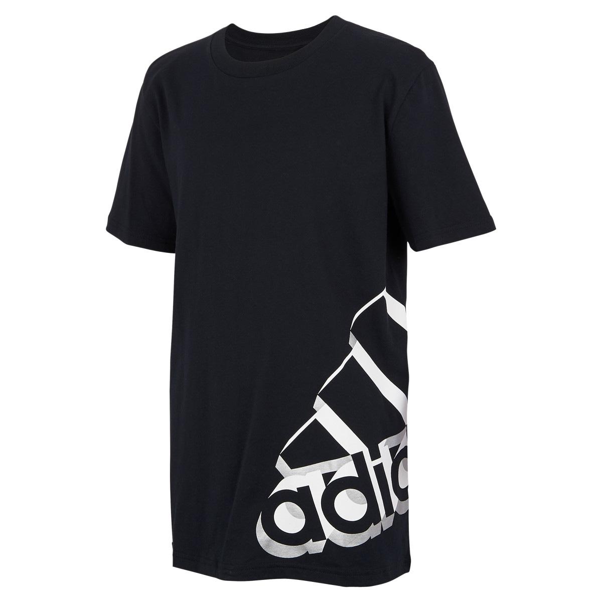 Boys' Short Sleeve Core Repeating Tee, Black, swatch