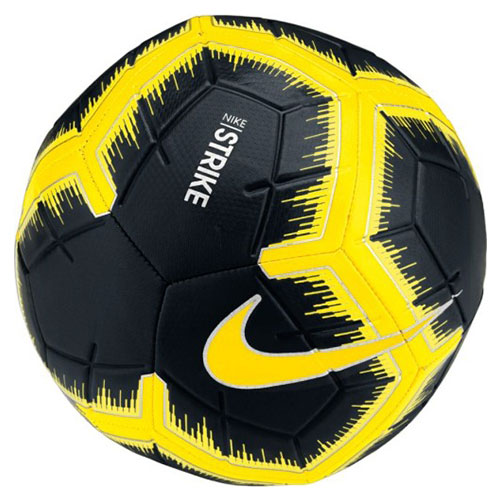 Strike Soccer Ball, Charcoal And Yellow, swatch