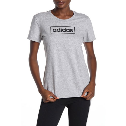 Women's Boxed Graphic Tee, Heather Gray, swatch