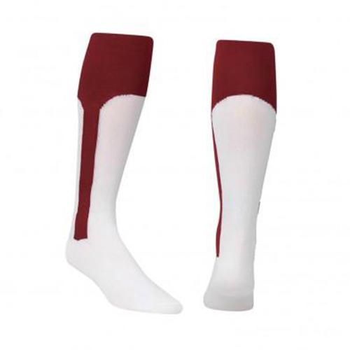 Youth Stirrup Baseball Socks, Maroon, swatch