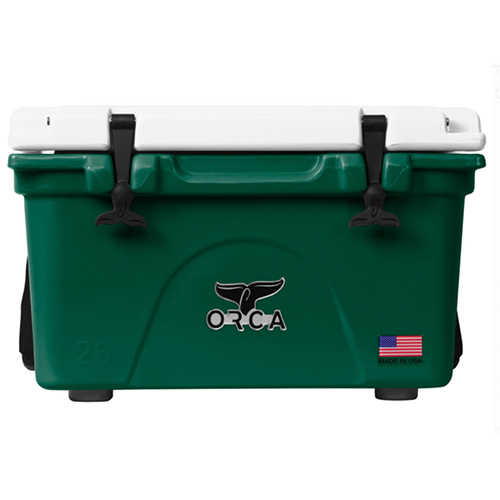 26qt Roto-molded Cooler, Green/White, swatch