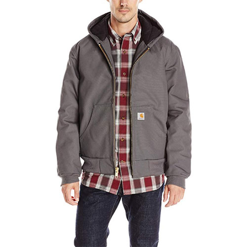 Men's Quilt Lined Active Jacket, Gray, swatch