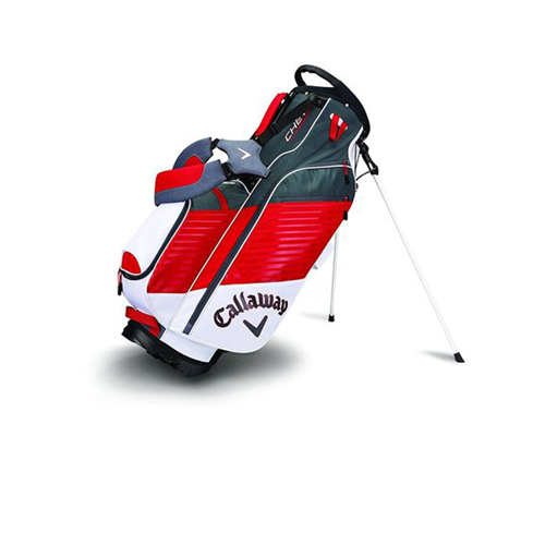 Chev Stand Bag, Black/Red/White, swatch