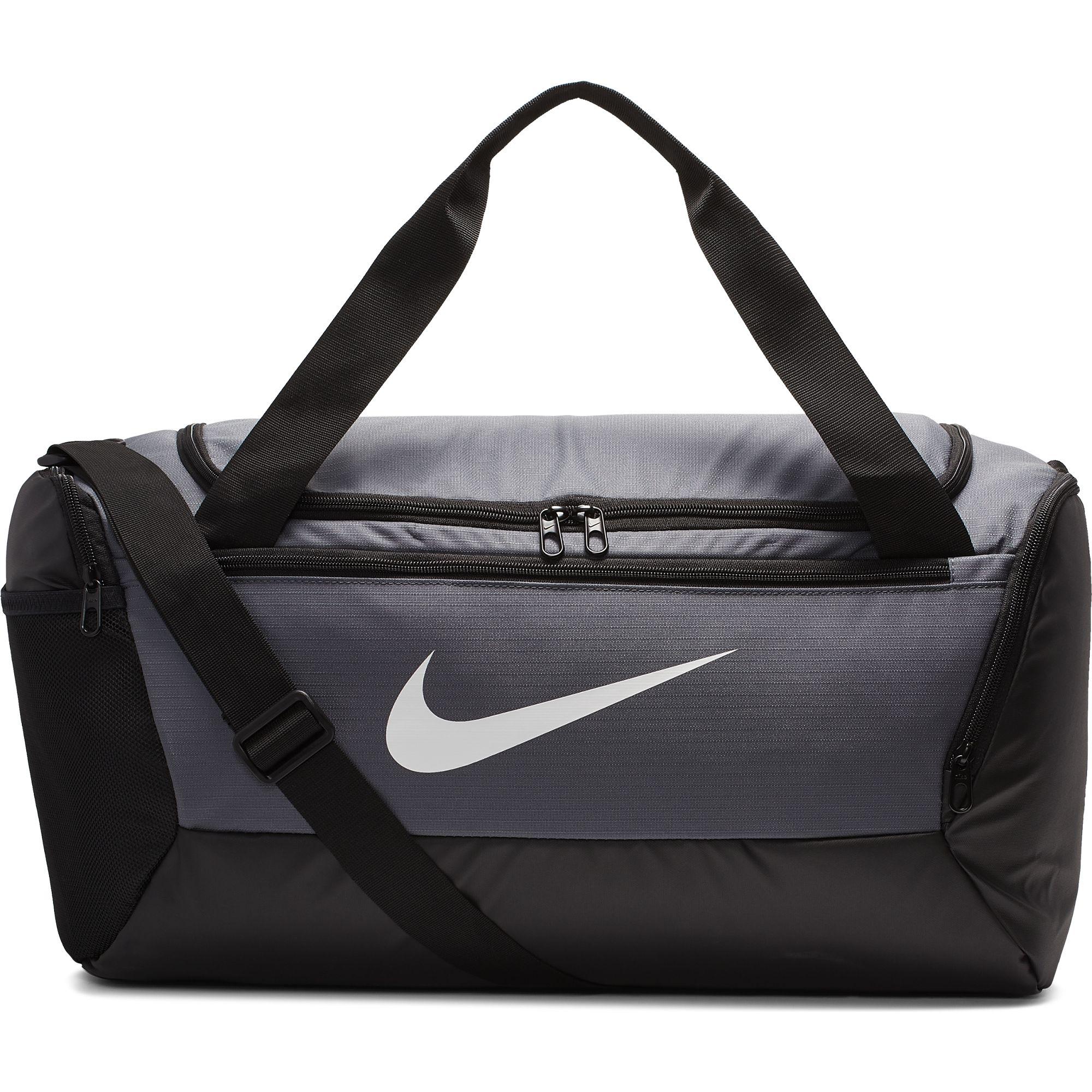 Brasilia Small Training Duffell Bag, Gray/Black, swatch