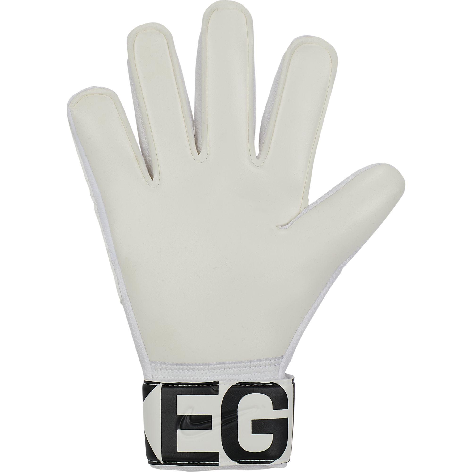 Goalkeeper Match Goalie Gloves, White/Black, swatch