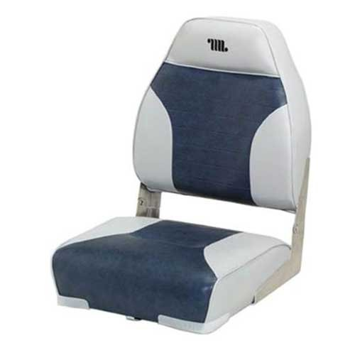 Mid Back Boat Seat, Gray/Blue, swatch