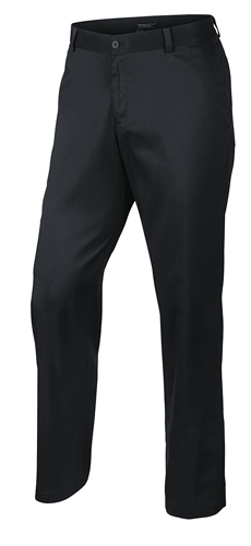 Men's Flat Front Flex Golf Pants, Black, swatch