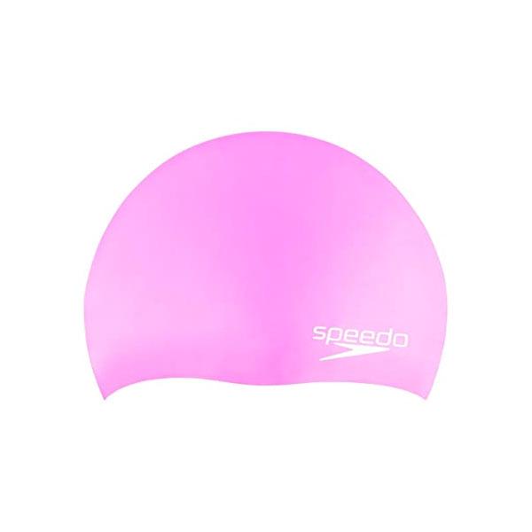 JR Elastomeric Silicone Swim Cap, Pink, swatch