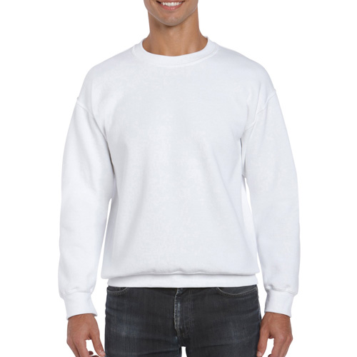 Men's Extended Size DryBlend Crewneck Sweatshirt, White, swatch