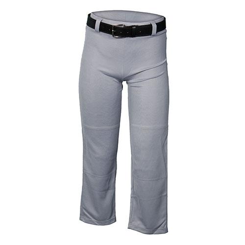 Youth Open Bottom Baseball Pant, Gray, swatch