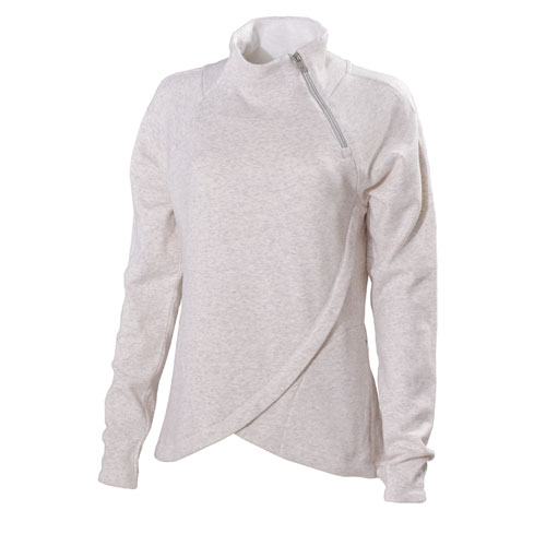 Women's Missy Lined Long Sleeve Pullover with Zip Neck, Oatmeal, swatch
