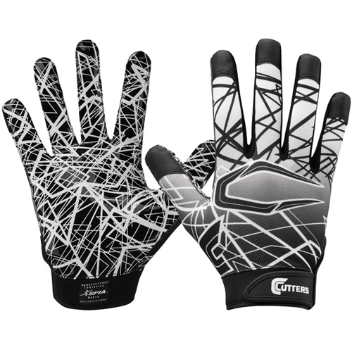 Adult Game Day Receiver Gloves, Black, swatch