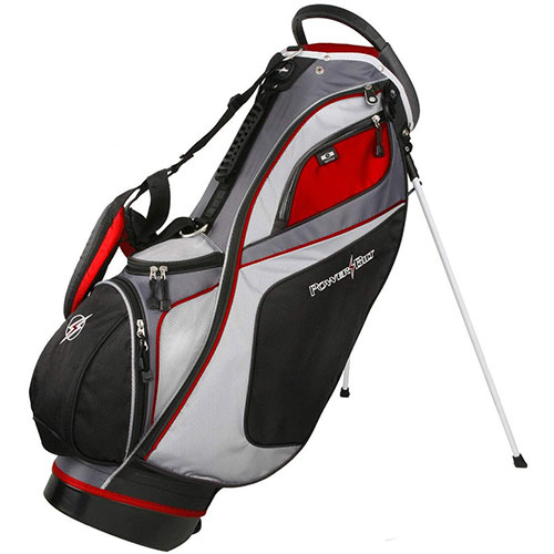 Golf Dunes 14-Way Stand Bag, Black/Red, swatch