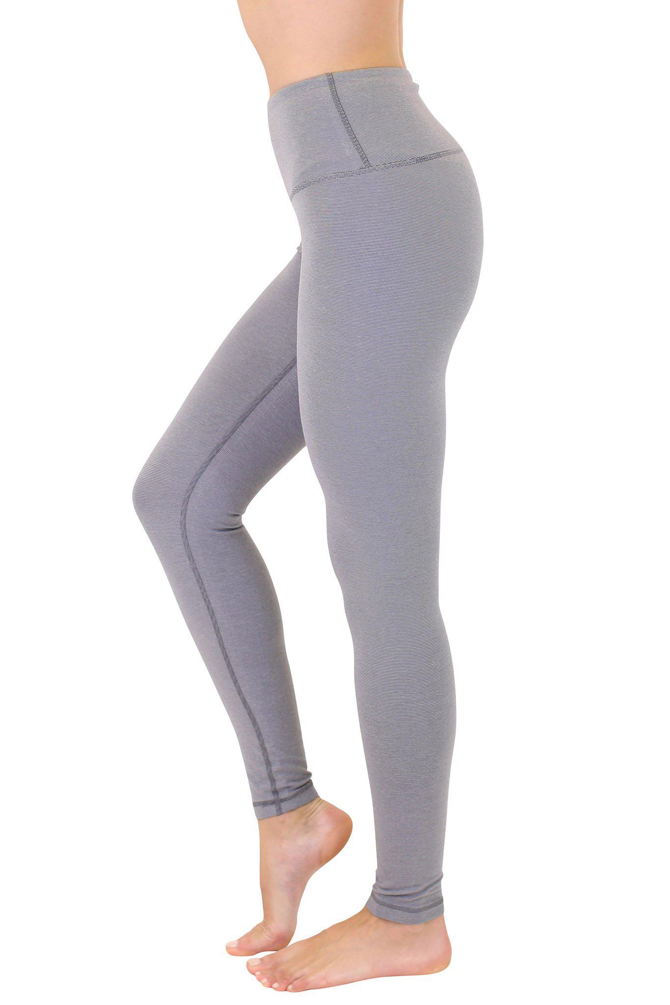 Women's Cotton High Waist Leggings, Heather Gray, swatch