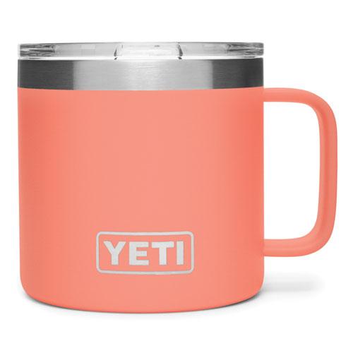 14 Oz. Color Mug, Coral, swatch
