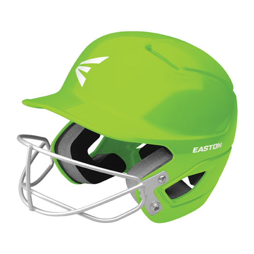 Tee Ball Alpha Fast Pitch Helmet with Mask, Lime, swatch