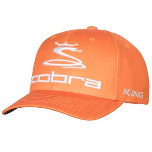 Men's Pro Tour King Fitted Golf Cap, Orange, swatch