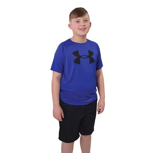 Boys' Tech Big Logo Short Sleeve Tee, Royal Bl,Sapphire,Marine, swatch