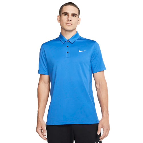 Men's Short Sleeve Football Polo, Blue, swatch