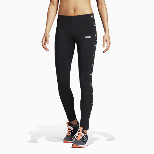 Women's Linear Graphic Leggings, Black, swatch