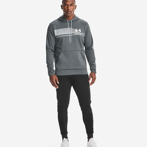 Men's Armour Fleece Plus SP Graphic Hoodie, Gray, swatch