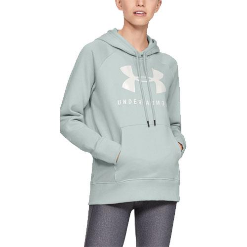 Women's Rival Fleece Sportstyle Graphic Hoodie, Lt Green,Mint,Fern,Seafom, swatch