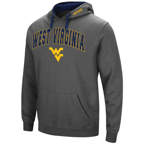 Men's West Virgina Tackle Twill Hoodie, Charcoal,Smoke,Steel, swatch