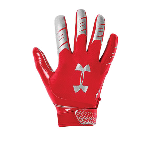 Men's F7 Football Receiver Gloves, Red, swatch
