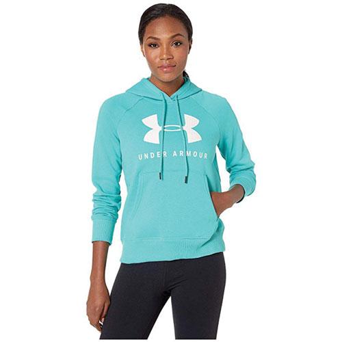 Women's Rival Fleece Sportstyle Graphic Hoodie, Blue, swatch