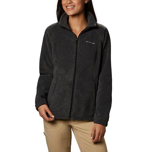 Women s Benton Springs Full Zip Fleece Jacket, Charcoal/Heather, swatch