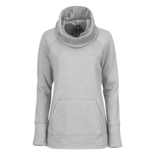 Women's Plus Sized Jacquard Cowl Neck Sweatshirt, Heather Gray, swatch