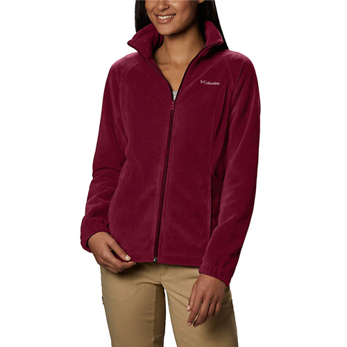 Women's Benton Springs Full Zip Fleece Jacket, Dk Red,Wine,Ruby,Burgandy, swatch