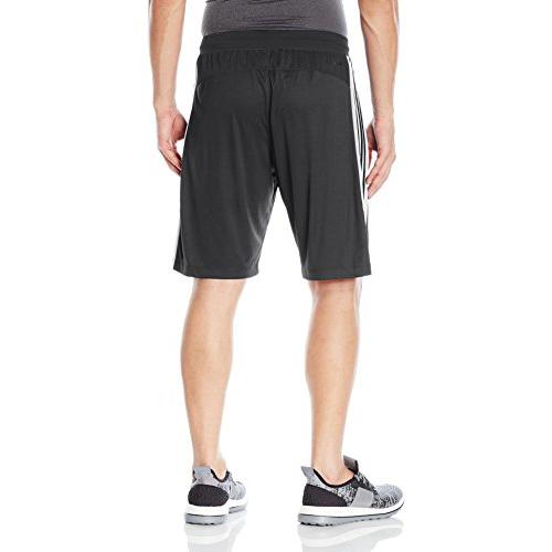 Mens Designed 2 Move 3-Stripes Shorts, Black/White, swatch