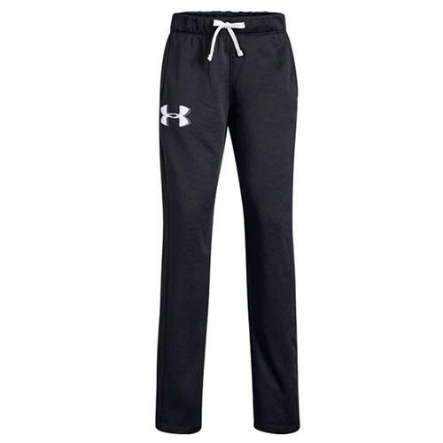 Girls' Armour Fleece Pant, Black, swatch