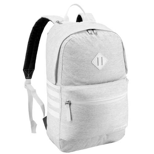 Classic 3 Stripe III Backpack, White/White, swatch