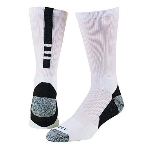 Shooter Socks, White/Black, swatch