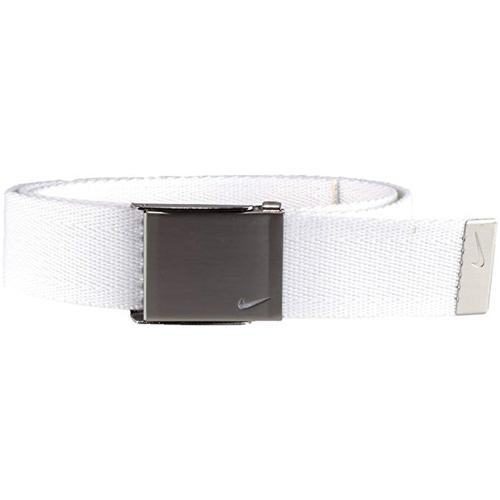 Men's Swoosh Web Golf Belt, White, swatch