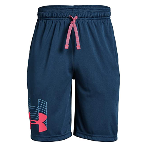 Boys' Prototype Logo Shorts, Navy, swatch
