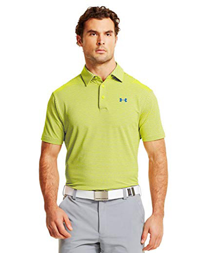 Men's Playoff Golf Polo, Bright Yellow,Maize,Sun, swatch