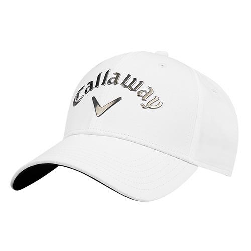 Men's Liquid Metal Hat, White/Silver, swatch