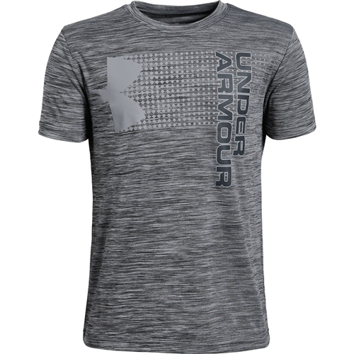 Youth Under Armour Crossfade Tee, Heather Gray, swatch
