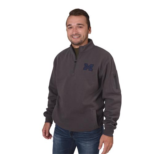 Men's Michigan 1/4 Zip Fleece, Charcoal,Smoke,Steel, swatch