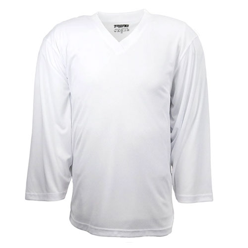 Youth DJ80 Practice Hockey Jersey, White, swatch