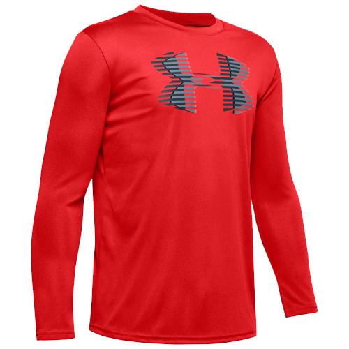Boys' Under Armour Tech Big Logo, Red, swatch