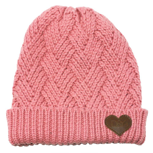 Women's Knitted Beanie, Pink, swatch