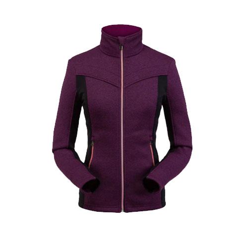 Women's Cora Full Zip Fleece, Purple, swatch