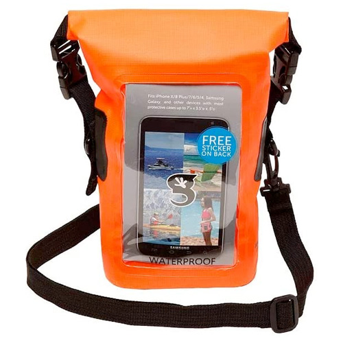 Waterproof Phone Tote, Orange, swatch